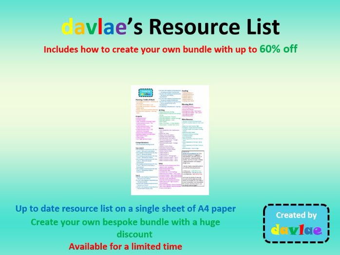 davlae's Shop Resource List