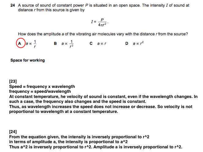 CIE AS Physics Model Answers Paper 1 June 2011