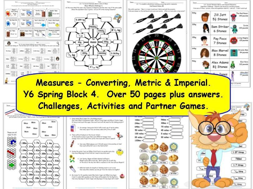 Measures Conversion Y6 Spring Block 4 Challenges, Games & Activities