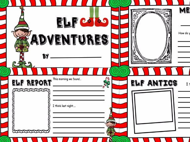 Elf on the shelf classroom diary