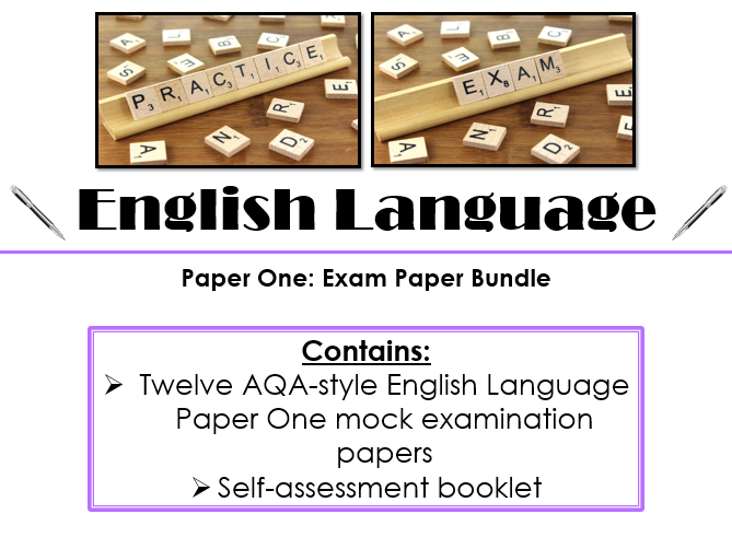 New Specification AQA-Style Mock English Language Paper One Bundle (12 Practice Papers)