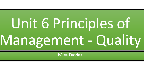 Unit 6 Principles of Management