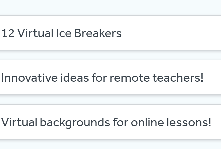 Great virtual resources for remote teachers!