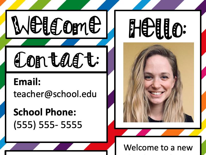*Colorful* Meet the Teacher Template