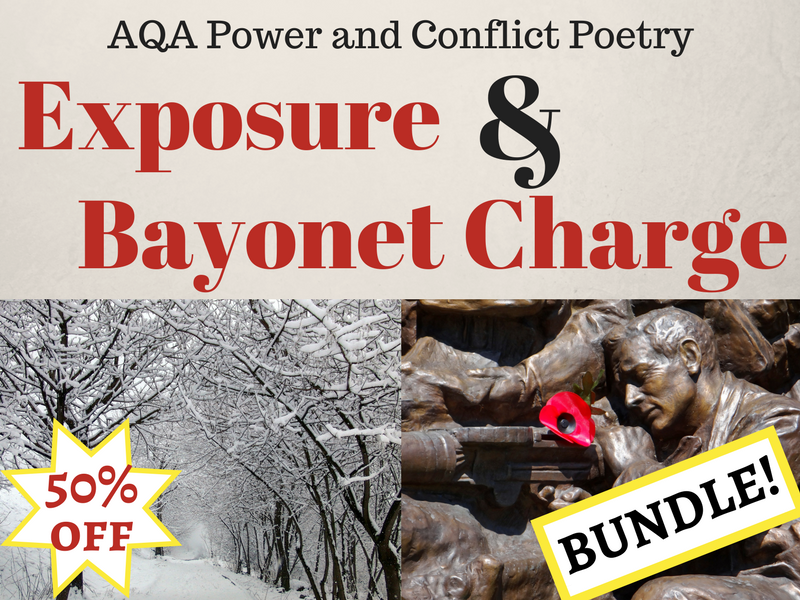 Bayonet Charge and Exposure Bundle - Power and Conflict Poetry