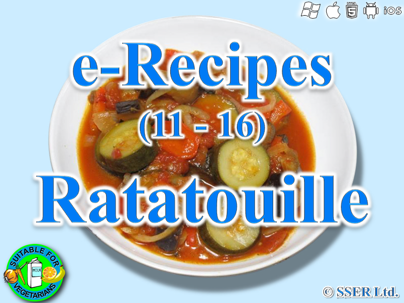 51.   Ratatouille (e-Recipe)