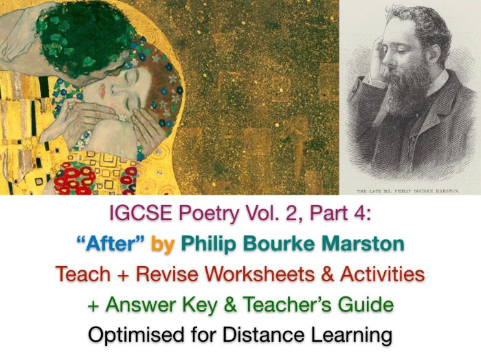 """""""After"""" - Philip Bourke Marston - IGCSE NO PREP TEACH + REVISE + ANSWERS"""