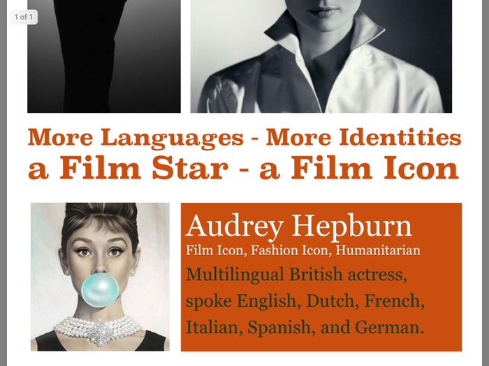 MFL poster 2 - Audrey Hepburn