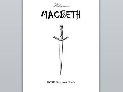 Macbeth GCSE (new 1-9) support pack