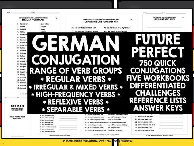 GERMAN ALEVEL FUTURE PERFECT TENSE CONJUGATION PRACTICE