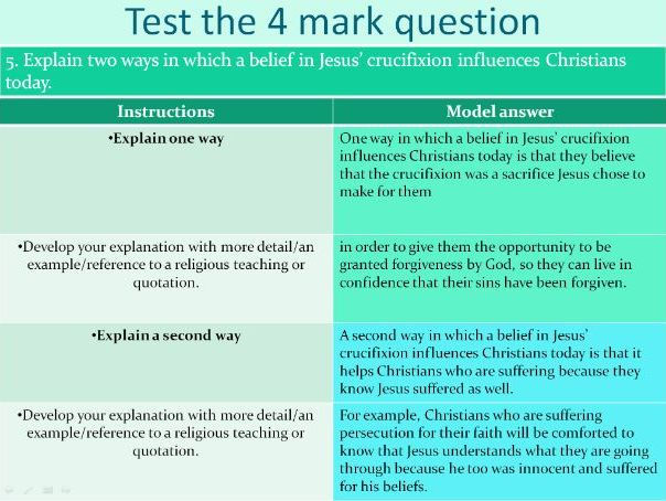 AQA GCSE  Christian beliefs exam practice and tips