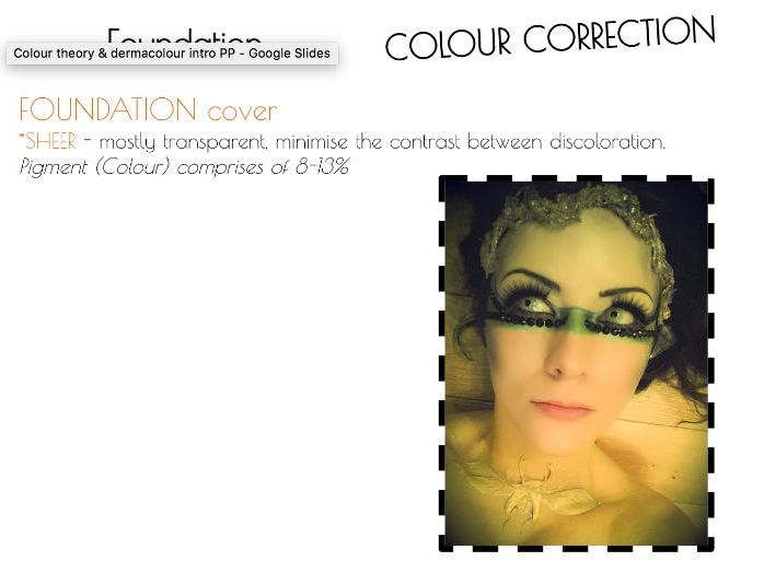 Make-up Colour theory - Foundation coverage & Colour mixing Activity - BTEC Creative Uses