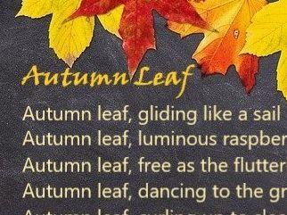 Autumn Leaf Poem + Blank Frame