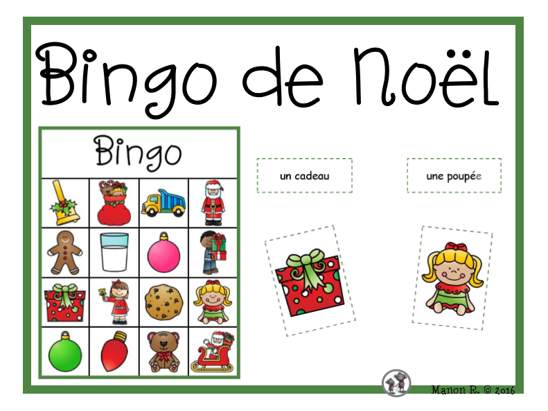 Bingo de Noël  (Christmas Time Bingo)