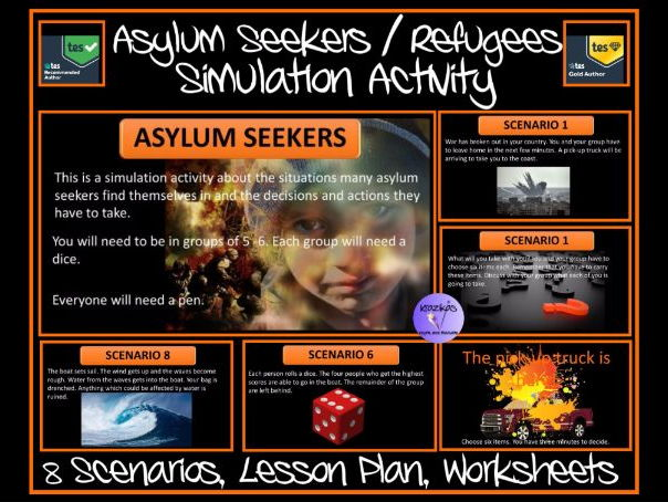 Asylum Seeker / Refugees Simulation Activity Pack - 8 Scenarios, Lesson, Powerpoint, Worksheets