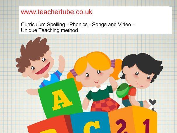 Year 5 - 6 Spelling list -  sad piano & video - smart board compatible