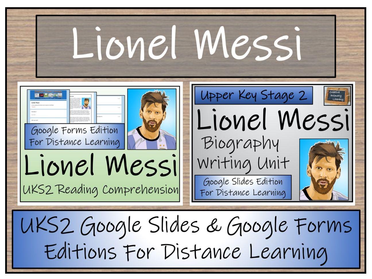 UKS2 Lionel Messi Biography & Reading Comprehension Distance Learning Bundle