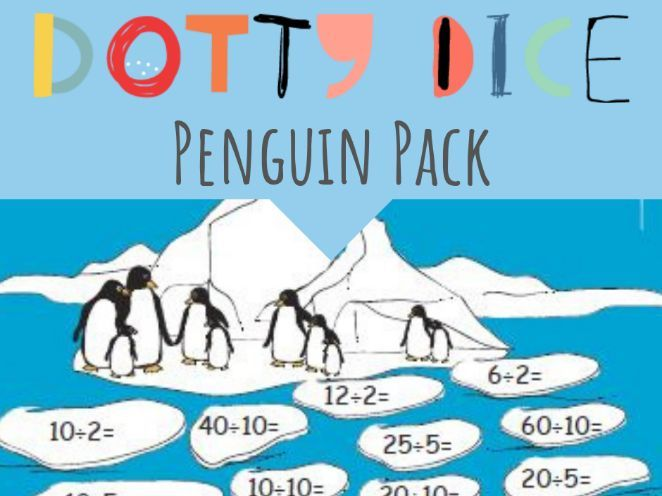 Numeracy Board Game - Penguin Pack - Advanced Additive - Division Problems