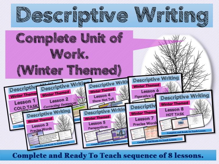 Descriptive Writing Scheme Of Work (Winter)  Upper KS2/KS3