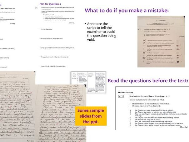 AQA GCSE Language Paper 2 Section A Reading Revision Booster Session - full breakdown of  questions