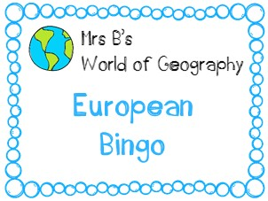 European Country Bingo - spatial literacy made competitive