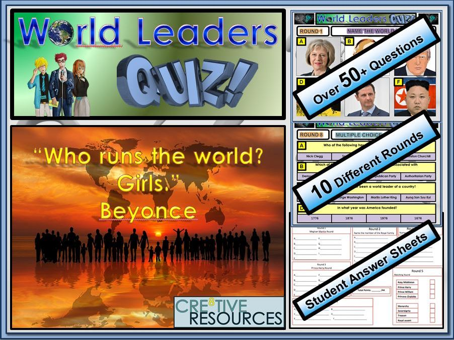 World Leaders Quiz Lesson