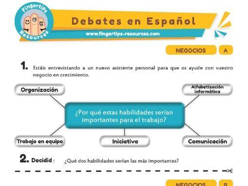 Noticias - Debates in Spanish