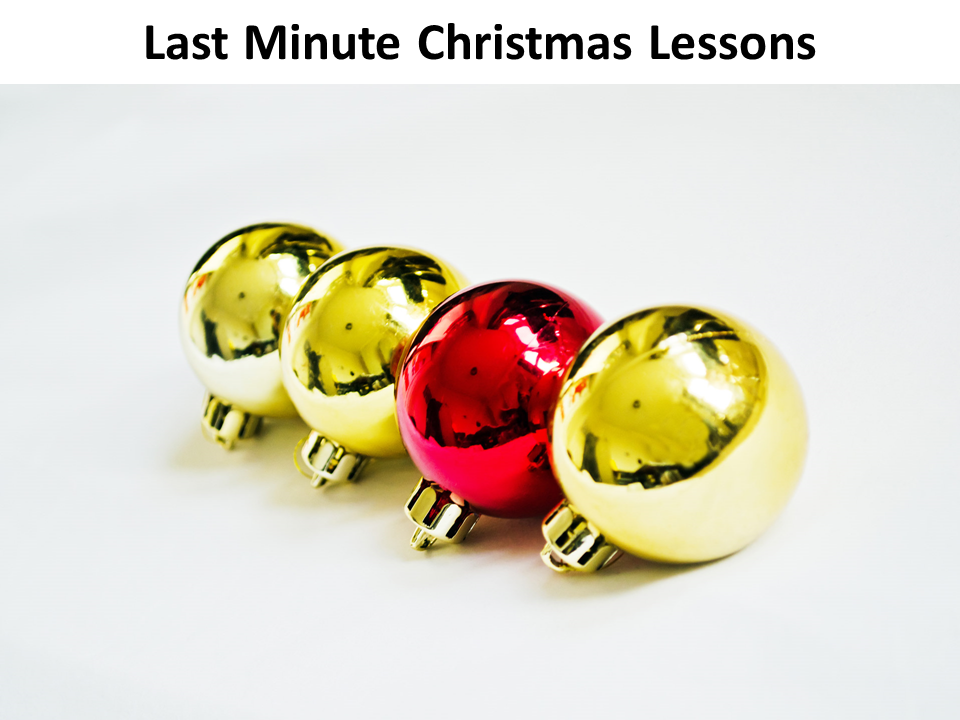 Last minute teaching ideas for Christmas (KS2 - KS3)