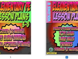 K-5 PE Lesson Plan Volume 8 Bundle