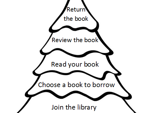 christmas homework library and reading task