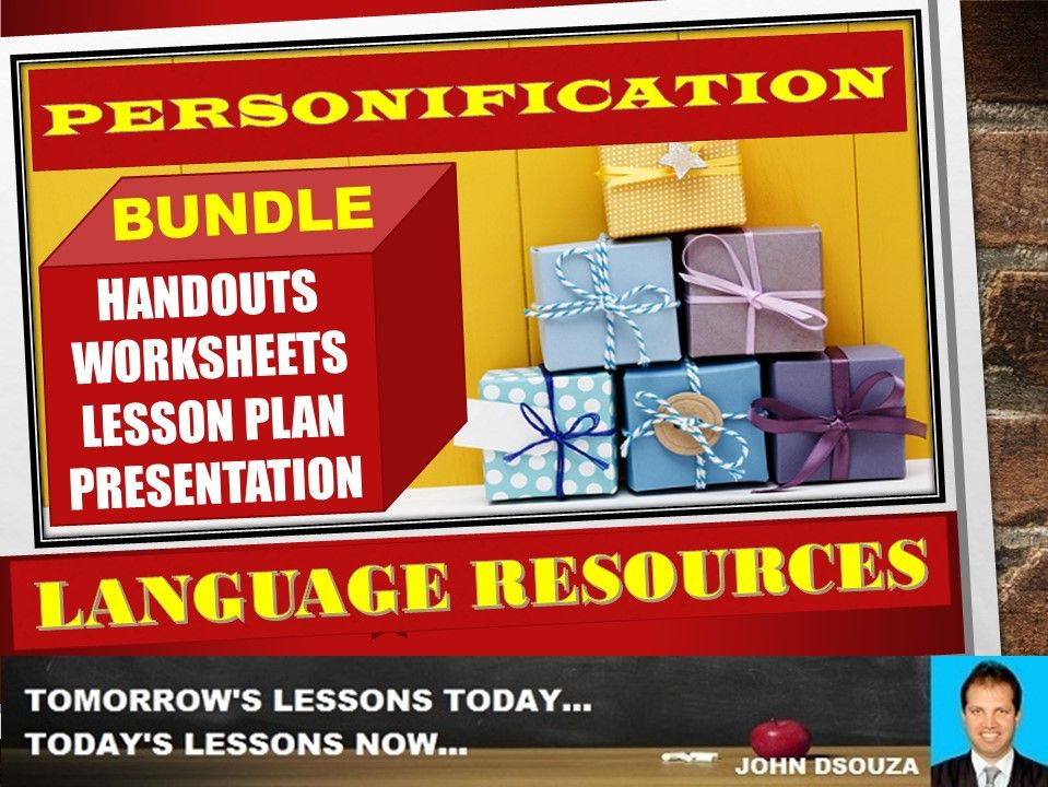 PERSONIFICATION FIGURE OF SPEECH BUNDLE