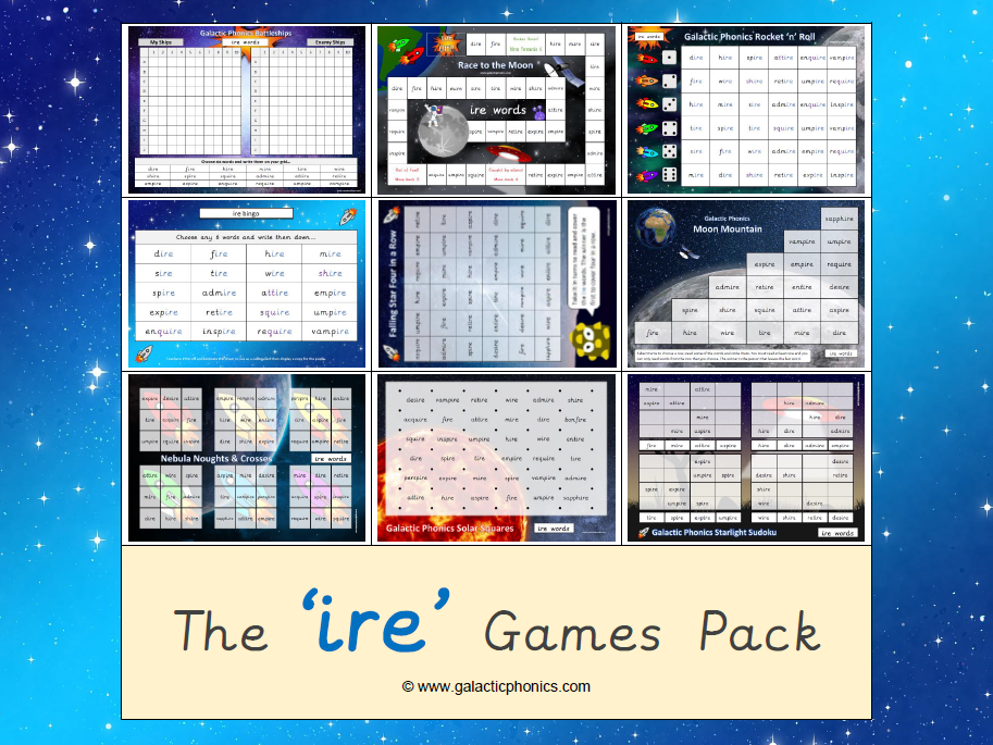 The 'ire' Phonics Games Pack