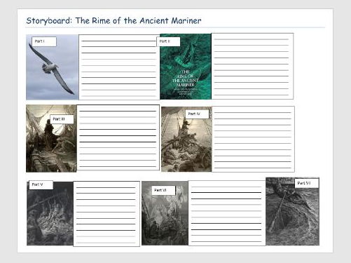 The Rime of the Ancient Mariner Storyboard