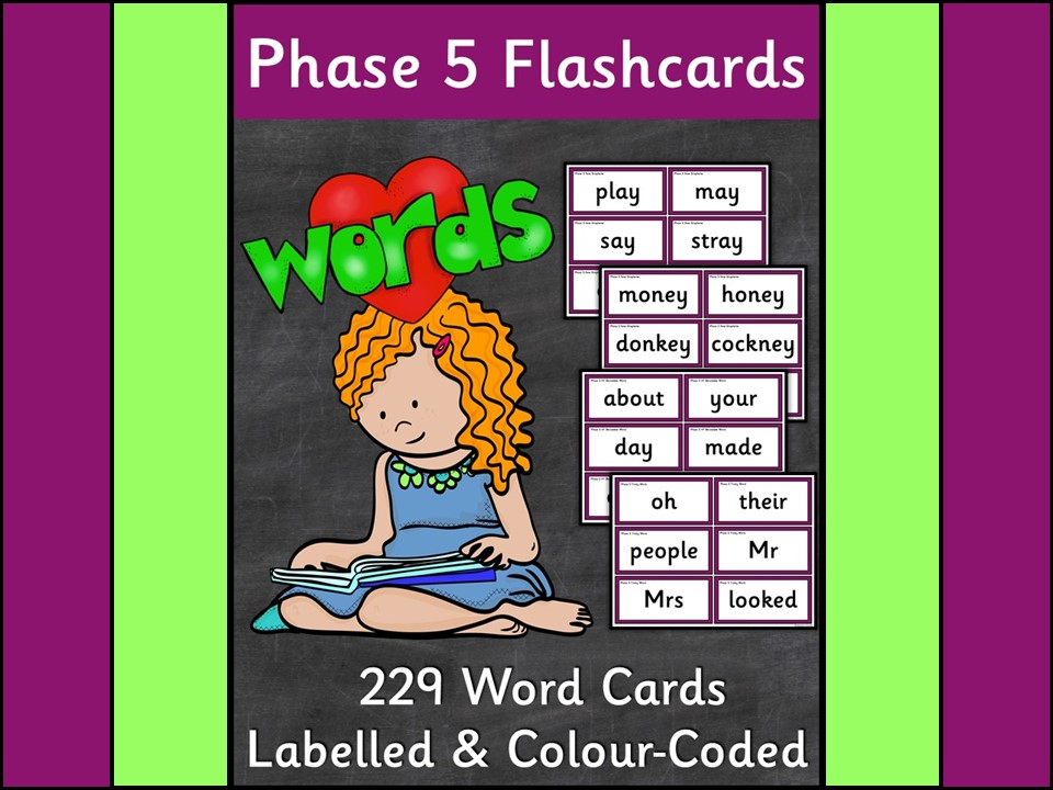 Phonics: Phase 5 Word Flashcards