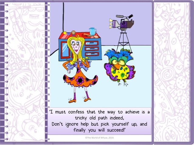Growth Mindset Poster from The World of Whyse's Book 5 'Ellie Gets Her Just Desserts.'