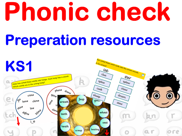 Phonics screening check  resource / game black hole spot the sound ks1 year 1 eyfs