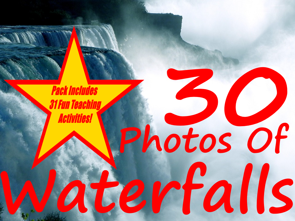 30 Waterfall Photos PowerPoint Presentation + 31 Fun Teaching Activities For These Cards