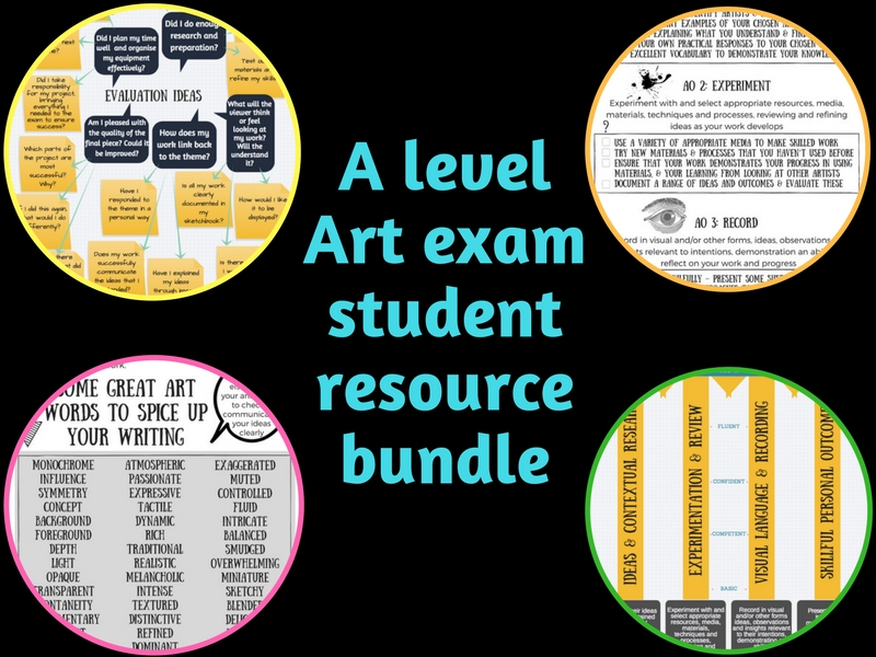 A level art exam support bundle 2018
