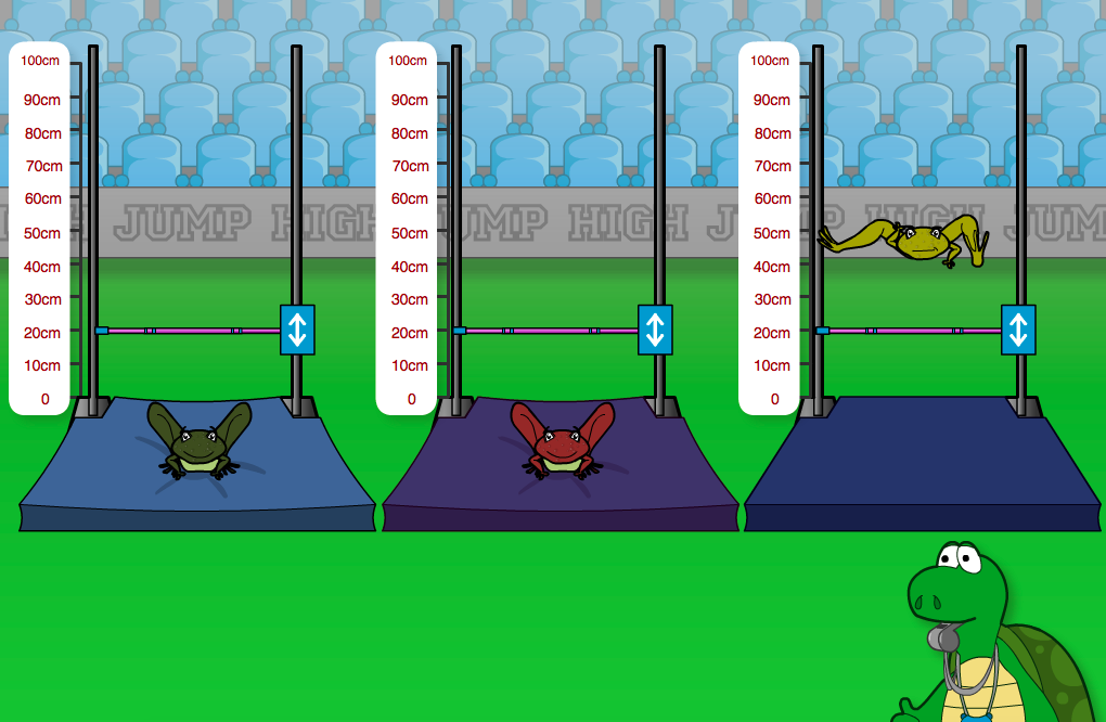 Frog High Jump Interactive Game - KS2 Measurement