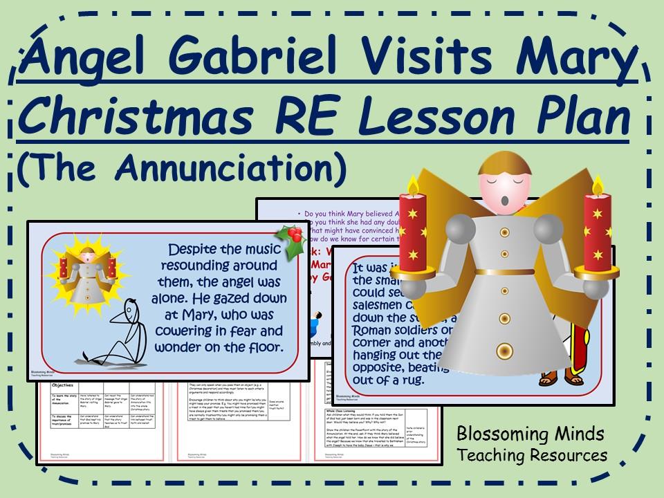 Christmas RE lesson KS2 - Gabriel Visits Mary