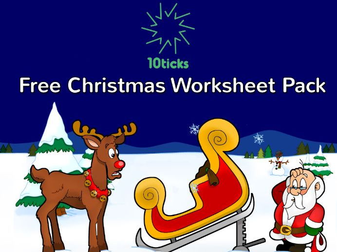 Free 10ticks maths Christmas Activity Pack 2017