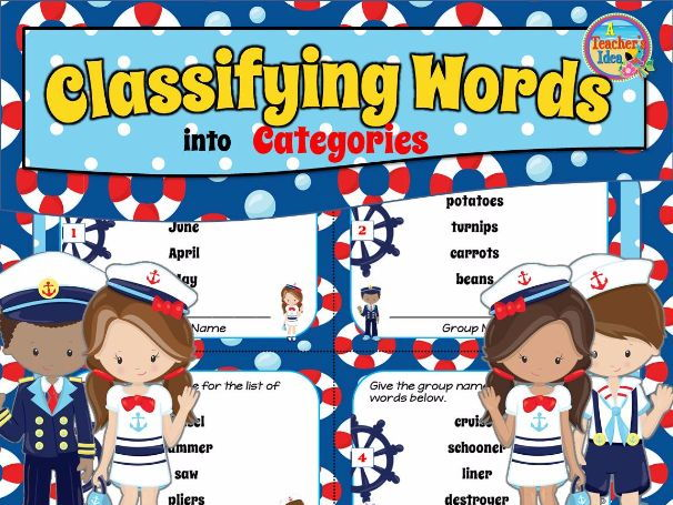 Classify and Categorize Task Cards