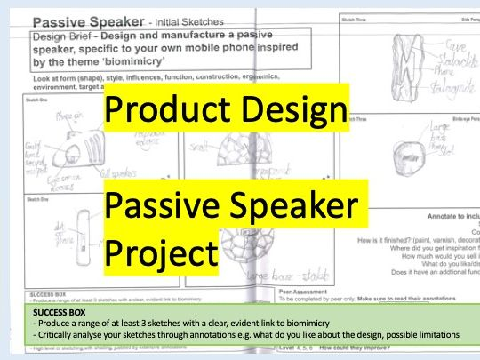 Passive Speaker Project Initial Research, Initial Sketches, Final Drawing and ACCESSFM Specification