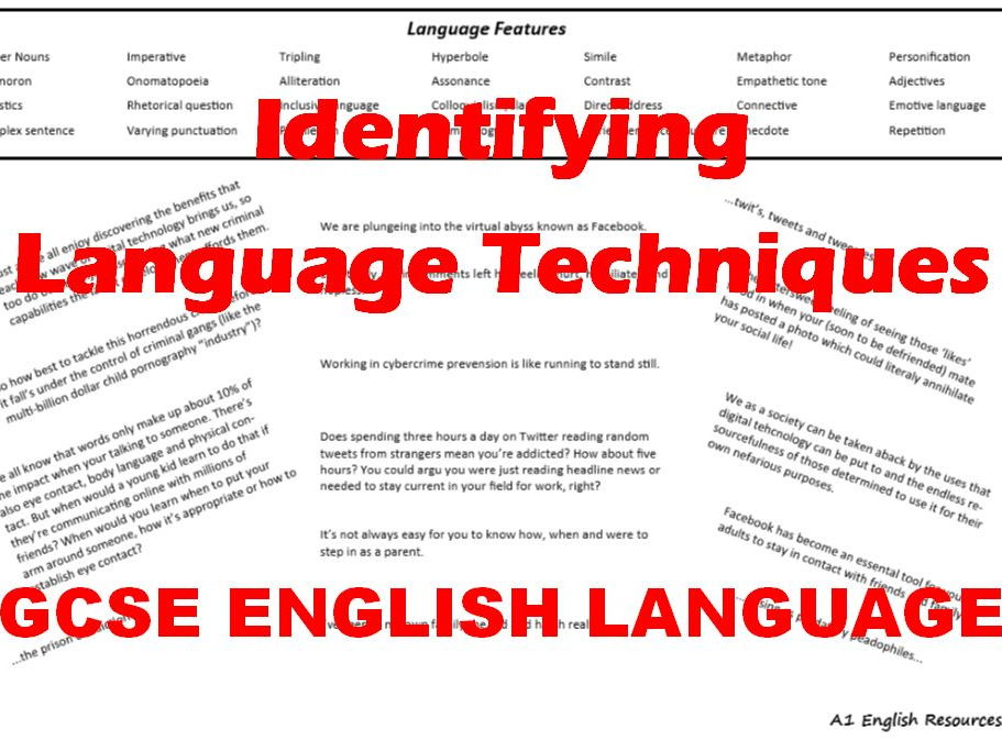 GCSE English Language: Identifying Language Techniques from Cybercrime Articles - Revision Practice