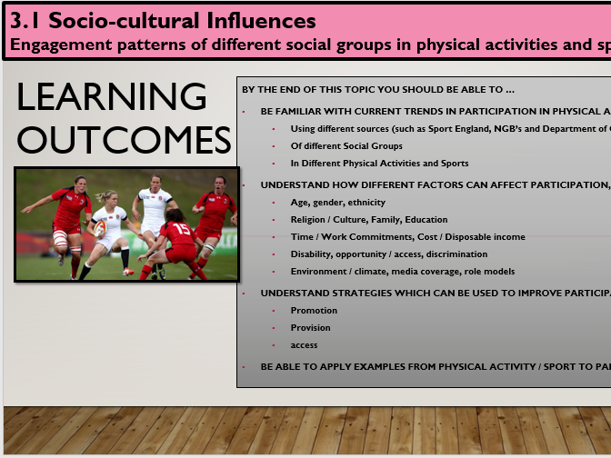 GCSE Physical Education (2016 OCR Specification) Section 3 [Socio-cultural Influences]