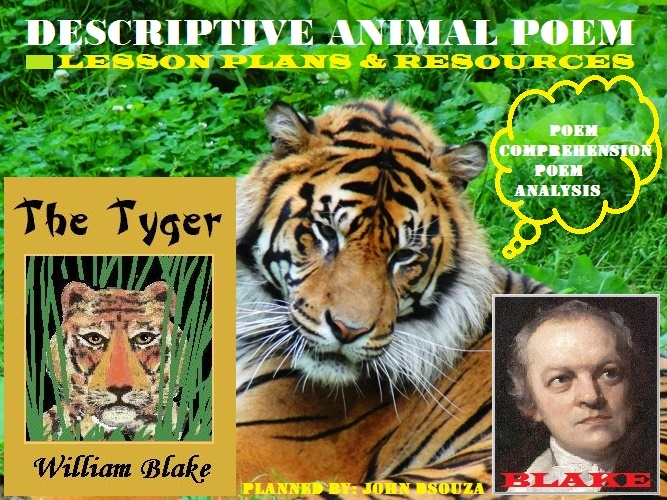 TYGER TYGER - DESCRIPTIVE ANIMAL POEM: LESSONS & RESOURCES