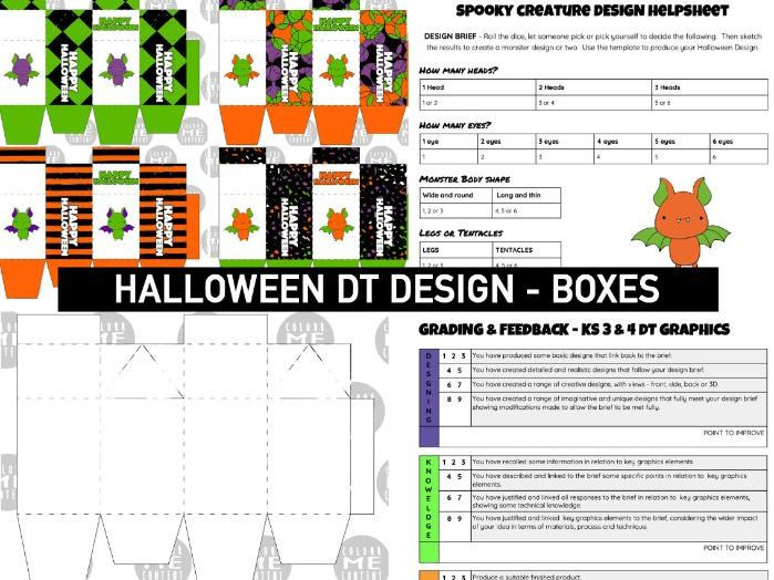 HALLOWEEN   Monster BOX Design Activity