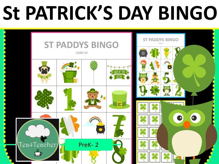 St Patrick's Day Bingo Game