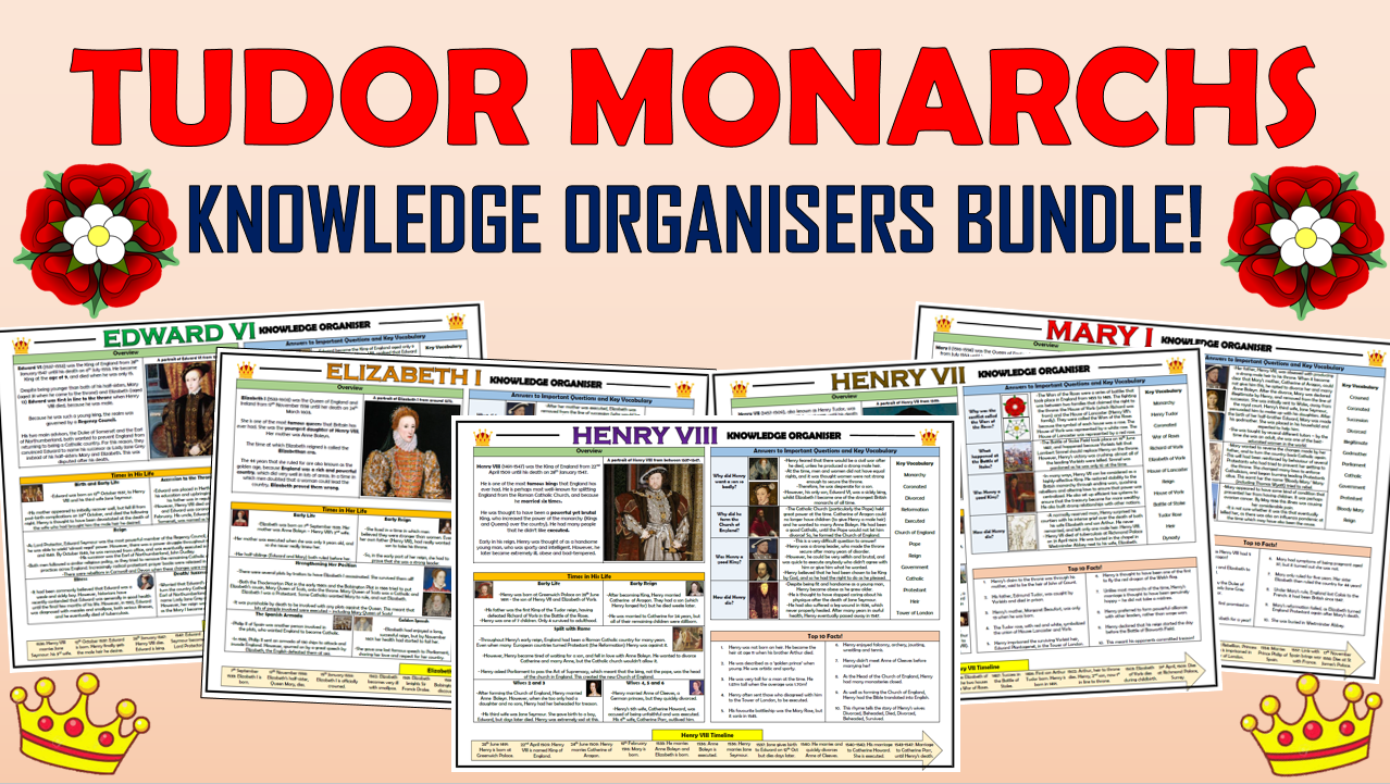Tudor Monarchs - Knowledge Organisers Bundle!