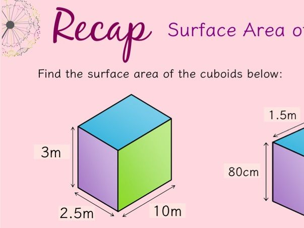 Surface Area and Volume of Cuboids and compound cuboids bundle!